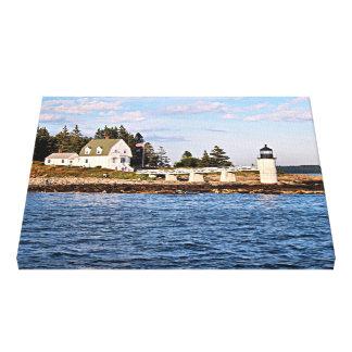Toile enveloppée par Maine de phare de point de