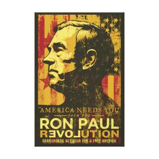 Toile enveloppée par révolution de Ron Paul Toiles