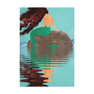 Toile enveloppée pareau abstraite de roche de