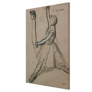 Toile Étude d'Edgar Degas   d'un danseur