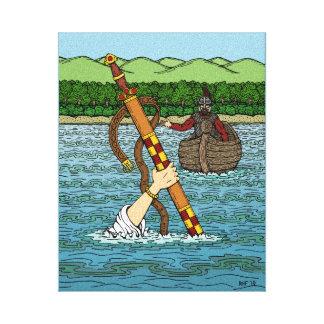 Toile Excalibur et Arthur