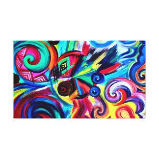 Toile Explosion de couleur