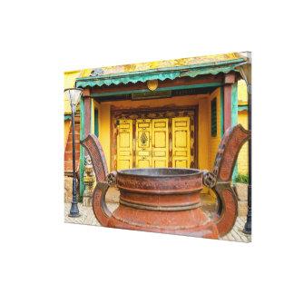 Toile Extérieur de construction de monastère