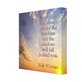 Toile Faites face à la citation de *Whitman d'art de