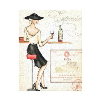 Toile Fashionista de vin