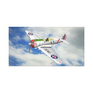 Toile Faucon P-36 en vol