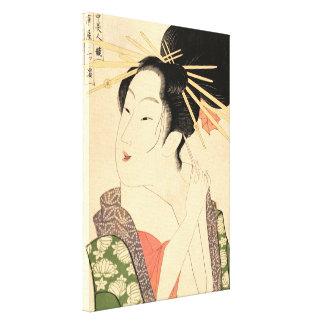 Toile Femme japonaise traditionnelle