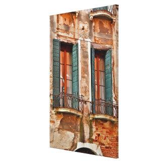 Toile Fenêtre dans le bâtiment de Venise