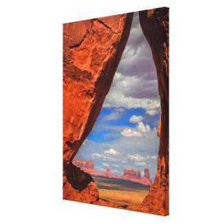Toile Fenêtre de roche à la vallée de monument, AZ
