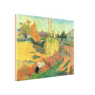 Toile Ferme d'Arles par Paul Gauguin