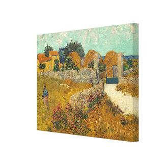 Toile Ferme de Vincent van Gogh | en Provence, 1888