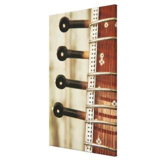 Toile Fermez-vous du sitar indien Kunti