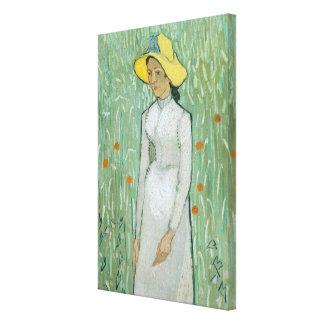 Toile Fille de Vincent van Gogh   dans le blanc, 1890