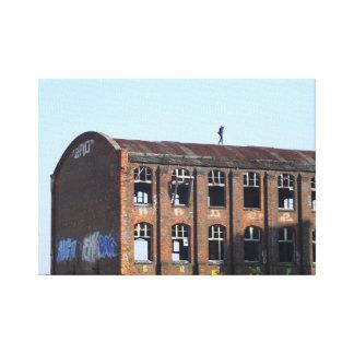 Toile Fille sur le toit 01,0, endroits perdus