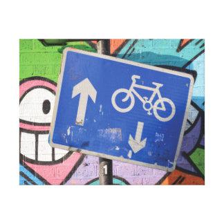 Toile Fin à la mode abstraite de graffiti vers le haut