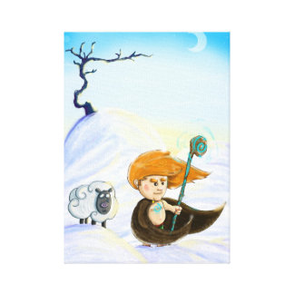 Toile Fionn dans la neige