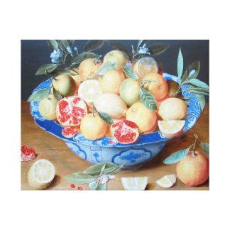 Toile Flamand toujours de grenade d'oranges de citrons