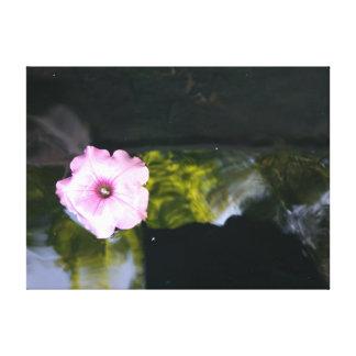 Toile Fleur de flottement