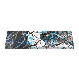 Toile Fleur de geai bleu sur le parchemin