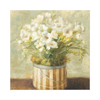 Toile Fleurs dans une boîte de casquette