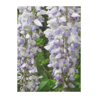 Toile Fleurs de lavande des glycines