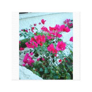 Toile Fleurs de roses indien de station de vacances