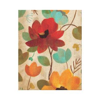 Toile Fleurs et bourgeons colorés
