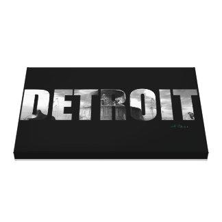 Toile Fontaine de parc d'île de belle de Detroit |