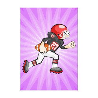 Toile Football américain joueur brise en courant