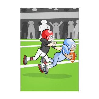 Toile Football américain joueur en bloquant un jeu