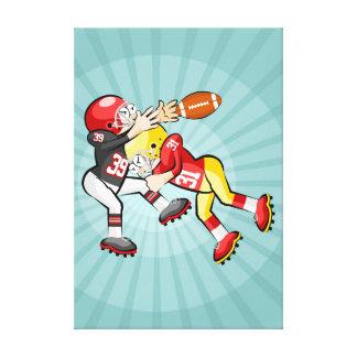 Toile Football américain joueur perd la balle