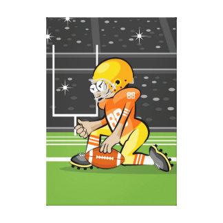 Toile Football américain le maréchal prépare le jeu