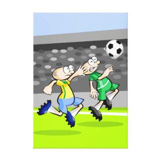 Toile Football enfants en courant pour atteindre la