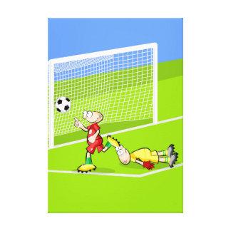 Toile Football joueur fête l'objectif qu'il fait