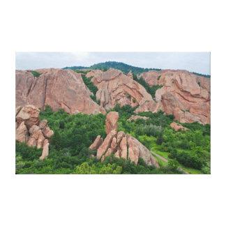 Toile Formations de vallée et de roche chez Roxborough