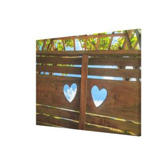 Toile Forme de coeur dans une barrière, Belize