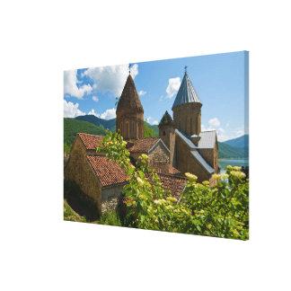 Toile Forteresse d'Ananuri pittoresque