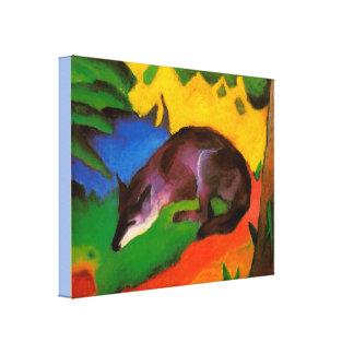Toile Fox Bleu-Noir vintage de Franz Marc