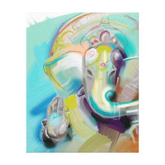 Toile Ganesha - éléphant Bouddha - copie d'art sur la