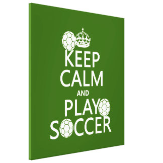 Toile Gardez le football de calme et de jeu (toute