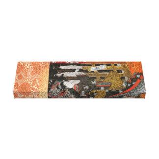 Toile Geisha de feuille d'or avec le parasol