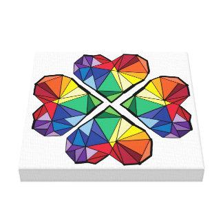 Toile géométrique de prime de trèfle de couleur