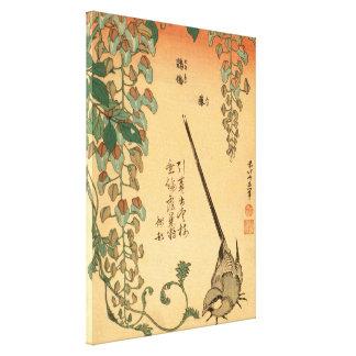Toile Glycines de Hokusai et art vintage GalleryHD de