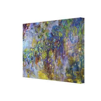 Toile Glycines par Claude Monet, impressionisme vintage