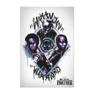 Toile Graffiti de guerriers de la panthère noire |