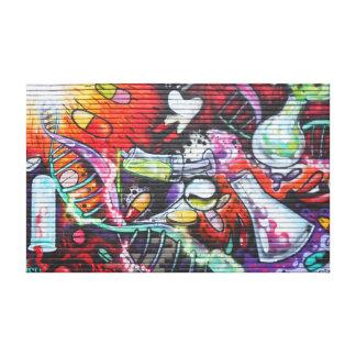 Toile Graffiti médical coloré de thème