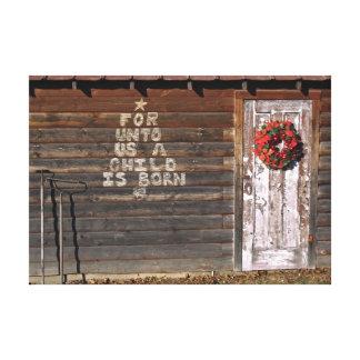 Toile Graffiti rustique de Noël