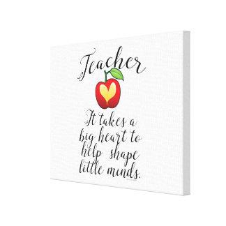 Toile Grand coeur à aider à former le petit professeur