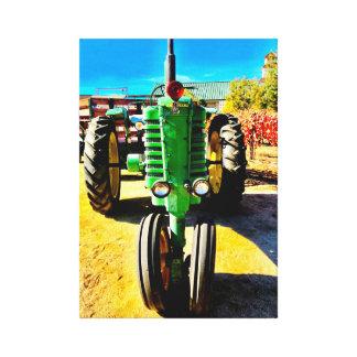 Toile Grand tracteur vert