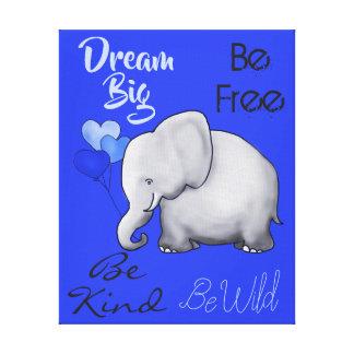 Toile Grande crèche mignonne rêveuse inspirée d'éléphant